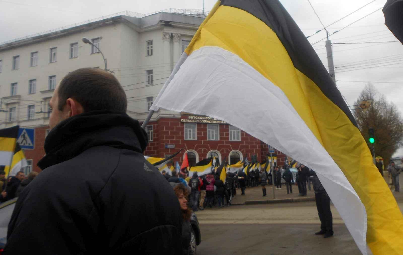 В чем сила, брат? В «Русском марше»? (+фото)