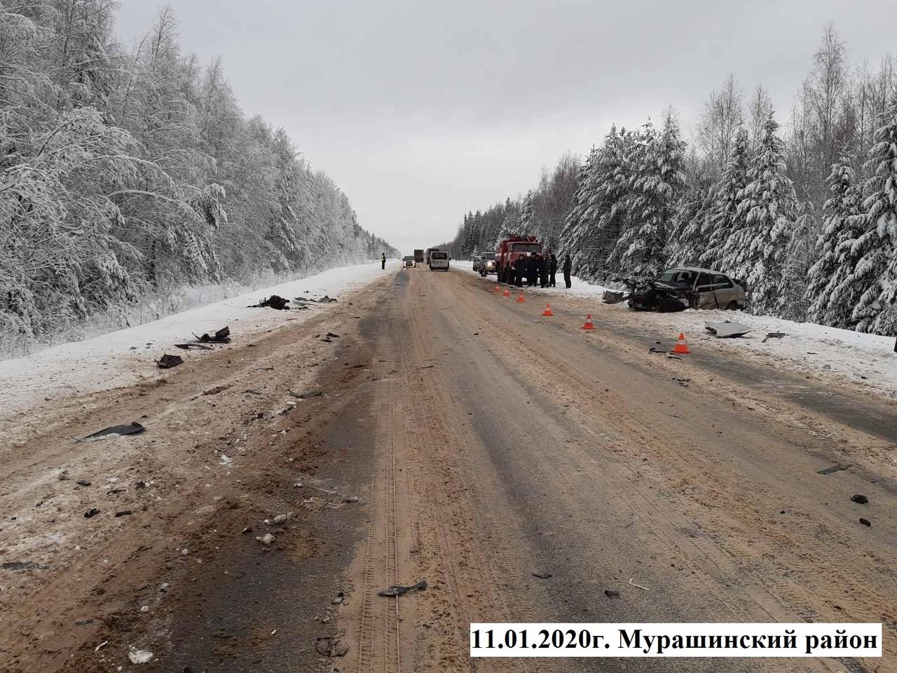 В Мурашинском районе столкнулись четыре автомобиля: есть пострадавшие