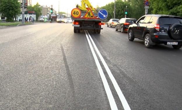В Кирове заново нанесут пластиковую разметку на дороги